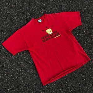 2001 Spongebob Planton Mind Control T-shirt